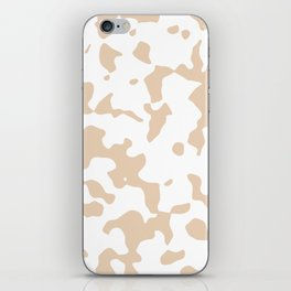 Large Spots - White and Pastel Brown iPhone Skin