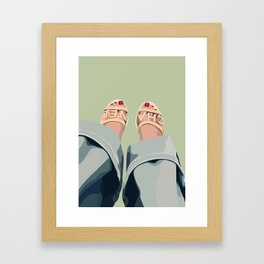 slippers Framed Art Print