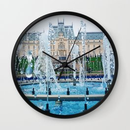 blue palace fountain Wall Clock