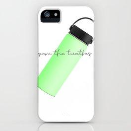 Save Turtles iPhone Case