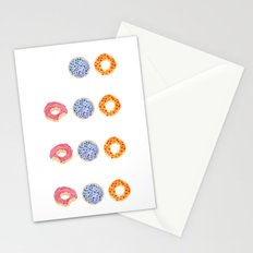 doughnut selection Stationery Cards