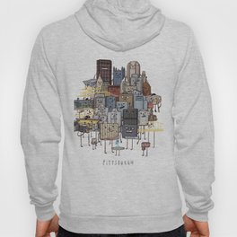Pittsburgh Skyline group picture- art print Hoodie