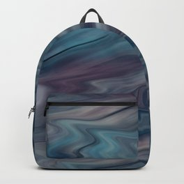 Grey-blue blurred abstract Backpack