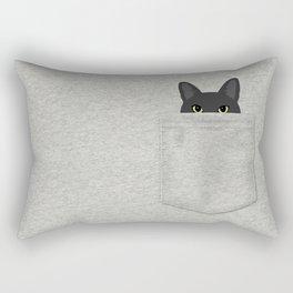 Pocket Black Cat Rectangular Pillow