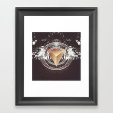 Somewhere in the darkness Framed Art Print