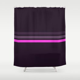 Alamak - Classic Retro Stripes Shower Curtain