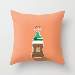 In My Fridge - Chocolate Milk Throw Pillow
