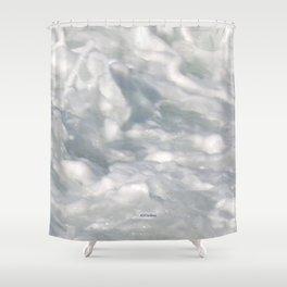 TEXTURES: Laguna Beach Sea Foam #3 Shower Curtain
