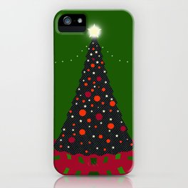 Christmas Tree with Glowing Star iPhone Case