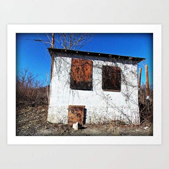 Boarded Up Art Print