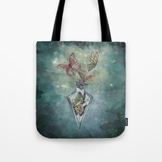 Butterfly Bottle  Tote Bag