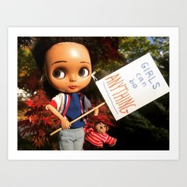 The Durham Doll: Girls Can Be Anything **(SPECIAL EDITION print!)** Art Print
