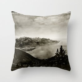 Vintage Switzerland Throw Pillow