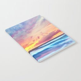Lonas planet stormy evening Notebook
