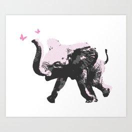 Baby Elephant Fun Art Print