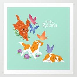 Tiny Tails: Regal Puppies Art Print