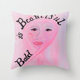 Bald is Beautiful Throw Pillow