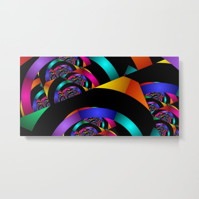 many colors on black Metal Print