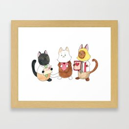 The Boys and their Valentines Framed Art Print