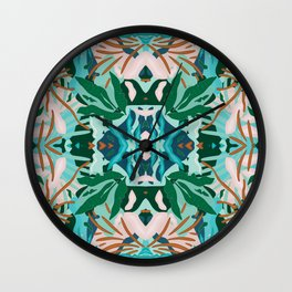 Jungle Abstraction / Wilderness Decor Wall Clock