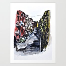 Naples City Street Art Print