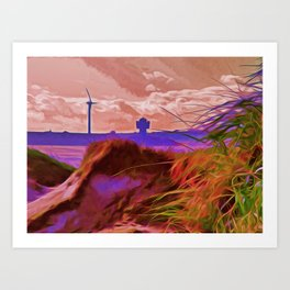 Sand Dunes (Digital Art) Art Print