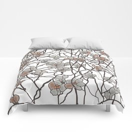 pattern of branches in pastel colors art Comforters