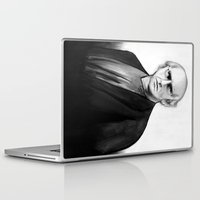larry david Laptop & iPad Skins featuring DARK COMEDIANS: Larry David by Zombie Rust