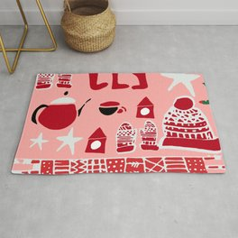 winter gear pink Rug