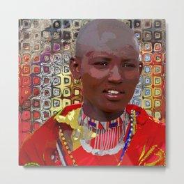 """""""Maasai Woman""""   Life In The Masai Mara Metal Print"""