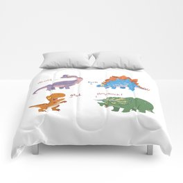Potty Mouth Dinos Group Comforters