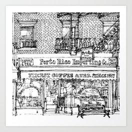 PORTO RICO COFFEE Art Print