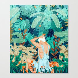 Backyard #illustration #painting Canvas Print