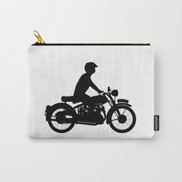 Motor Cyclist Silhouette Carry-All Pouch