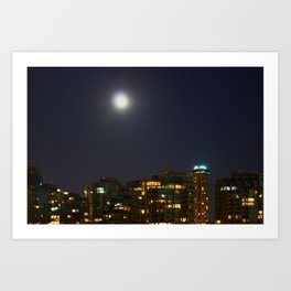 Night Skyline Art Print