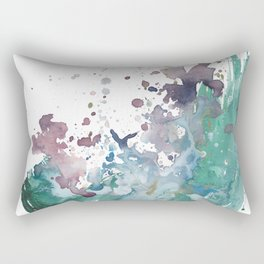 Shining Bright - Abstract Mixed Media Painting Rectangular Pillow