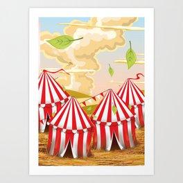Cartoon circus Tent. Art Print