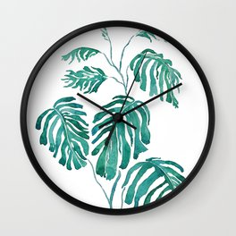 Monstera painting 2017 Wall Clock