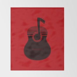 Classical Notes RED Throw Blanket
