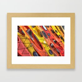 Kayak Art Framed Art Print