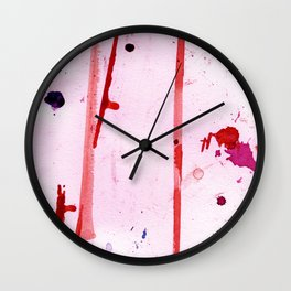 Pink Breeze Wall Clock
