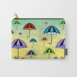 Colorful umbrellas flying in the sky Carry-All Pouch