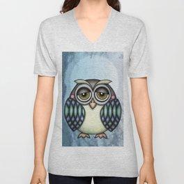 Owl illustration drawing Unisex V-Neck