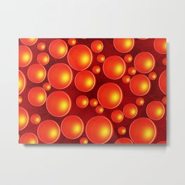 Orange bubbles Metal Print