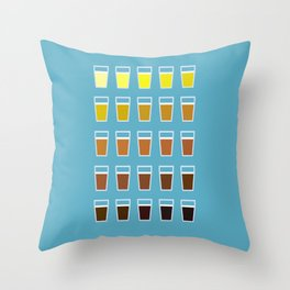 The Colors of Beer Throw Pillow