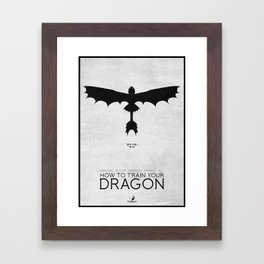 How To Train Your Dragon - minimal poster Framed Art Print