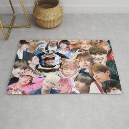 V BTS collage Rug