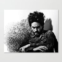 jared leto Canvas Prints featuring Jared Leto by Katerina Gold