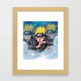 Shadow Clone Jutsu Framed Art Print