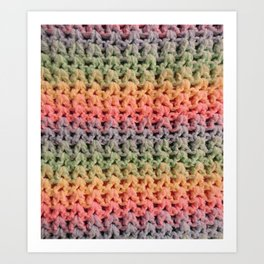 Colorful Chunky Knitted Effect Art Print